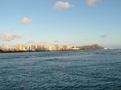 Oahu  -  Waikiki Beach and Diamond Head